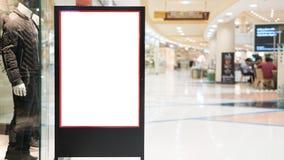 嘲笑购物的标签框架,小册子或海报bil的立场 库存照片