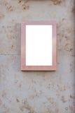 嘲笑 空白的广告牌户外,户外广告,在墙壁上的社会信息板 图库摄影