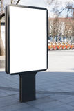 嘲笑 空白的广告牌户外,户外广告,在街道的社会信息板 库存照片