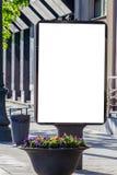 嘲笑 空白的广告牌户外,户外广告,社会信息委员会立场在城市 库存照片