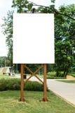 嘲笑 空白的广告牌户外,户外广告,社会信息板在城市公园 库存图片