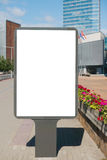 嘲笑 空白的广告牌户外,户外广告,社会信息板在城市 库存图片