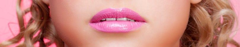 嘴唇妇女年轻人 免版税图库摄影