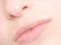 嘴唇妇女 免版税库存照片