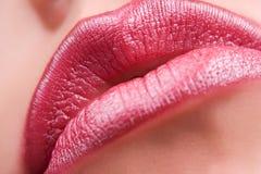 嘴唇红色肉欲 库存照片