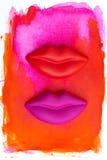 嘴唇 免版税库存照片