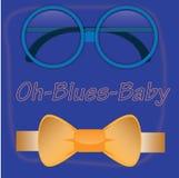 噢蓝色婴儿 免版税库存图片