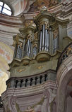 器官在教会里, Krtiny,捷克,欧洲 库存照片