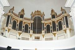 器官在赫尔辛基大教堂里 免版税库存照片