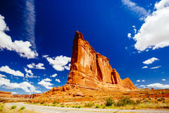 器官砂岩,拱门国家公园,犹他,美国 图库摄影