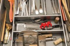 器物在厨房里 免版税库存照片