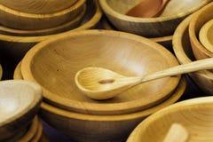 器物由木头制成 免版税库存图片
