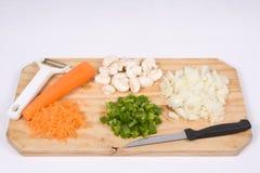 器物蔬菜 库存照片