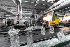 器皿制玻璃的产业生产在制造的 图库摄影