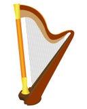 仪器竖琴 免版税库存图片