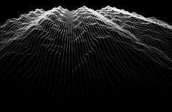 噪声抽象背景颜色 合理的调平器音乐波浪 WA 皇族释放例证