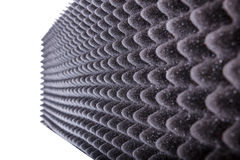 噪声的Microfiber绝缘材料在音乐演播室或音响大厅 免版税库存图片