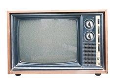噪声老减速火箭的电视 图库摄影