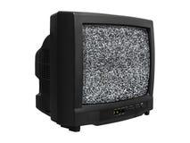 噪声老减速火箭的电视 免版税库存图片