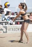 噬菌体 沙滩排球比赛妇女 地点:Ostia,罗马 意大利 库存图片