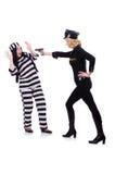 囚犯和警察 免版税库存照片