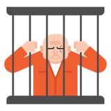 囚犯在监狱 证明有罪坚持酒吧 库存例证