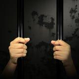 囚犯的手 免版税图库摄影