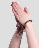 囚犯祈祷 免版税库存图片