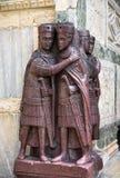 四一州的四分之一的领主的画象由圣马克` s正方形的在威尼斯 免版税库存图片