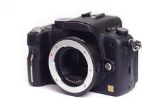 四三透镜适配器在照相机机身登上了 图库摄影