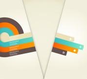四上色了与地方的条纹您自己的文本的。 免版税库存照片