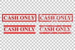 四不加考虑表赞同的人样式:现金仅,没有借方或者信用卡,在透明作用背景 库存例证