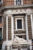 四个喷泉的街道在罗马意大利 库存照片