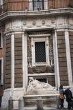 四个喷泉的街道在罗马意大利 库存图片