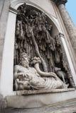 四个喷泉的街道在罗马意大利 免版税库存图片