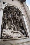四个喷泉的街道在罗马意大利 免版税图库摄影