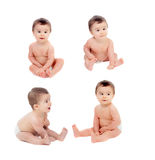 四个图象序列与一个滑稽的婴孩的 库存照片