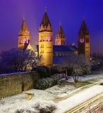 四个塔大教堂在佩奇,匈牙利 库存图片