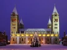 四个塔大教堂在佩奇,匈牙利 免版税库存照片