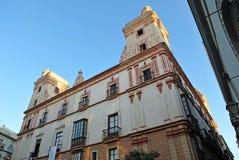 四个塔的议院,卡迪士,西班牙 免版税图库摄影