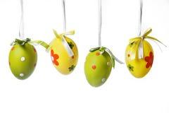 四个复活节彩蛋 免版税库存图片