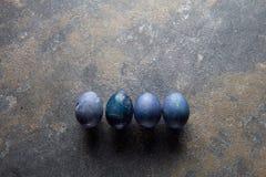 四个复活节彩蛋 免版税图库摄影