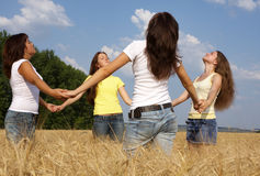 四个女孩 库存照片