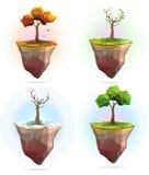 四个季节树例证 免版税库存照片