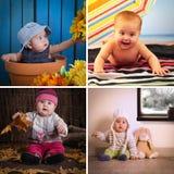 四个季节婴孩日历 免版税图库摄影