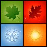 四个季节 免版税库存照片