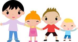 四个孩子 免版税图库摄影
