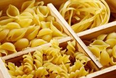 四个意大利面食集合种类 库存照片