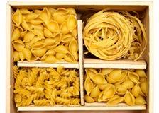 四个意大利面食集合种类 免版税库存图片