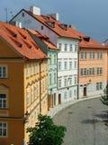 四个房子老城镇 免版税库存图片